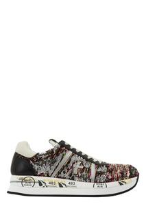 Кроссовки с вышивкой пайетками Premiata
