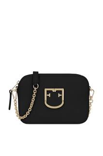 Черная кожаная сумка Brava Furla