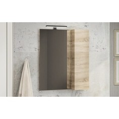 Шкаф-зеркало Comforty Тромсе 60 дуб сонома (4142221)