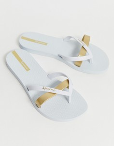 Шлепанцы с ремешками цвета металлик Ipanema - Белый