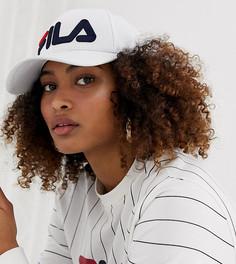 Белая кепка с логотипом Fila Slide - Белый