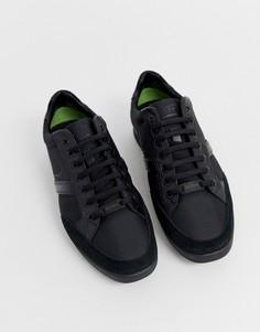 Черные кроссовки BOSS Saturn Lowp - Черный