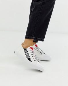 Кроссовки на шнуровке с логотипом Love Moschino - Белый