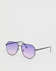 Черные солнцезащитные очки-авиаторы River Island - Черный