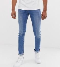 Синие выбеленные облегающие джинсы ASOS DESIGN Tall - Синий
