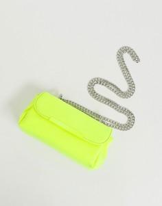 Маленькая сумка через плечо неонового цвета ASOS DESIGN - Желтый