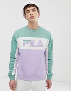 Сиреневый свитшот с логотипом Fila Brock - Фиолетовый