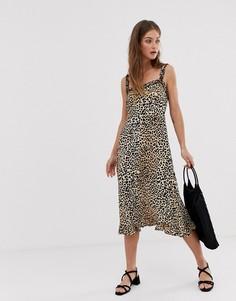 Платье миди с леопардовым принтом Faithfull Noemie - Мульти