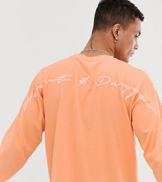 Футболка с длинными рукавами и логотипом Heart & Dagger - Оранжевый