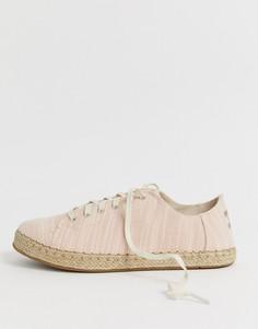 Льняные кроссовки-эспадрильи TOMs - Розовый