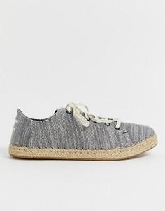 Льняные кроссовки-эспадрильи TOMs - Черный