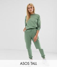 Спортивный костюм из свитшота и джоггеров с контрастной окантовкой ASOS DESIGN Tall - Зеленый