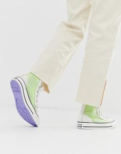 Высокие белые кроссовки Converse chuck taylor all star - Белый