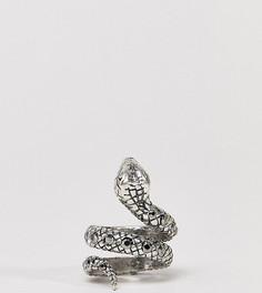 Серебристое кольцо со змеей и камнями Reclaimed Vintage Inspired эксклюзивно для ASOS - Серебряный