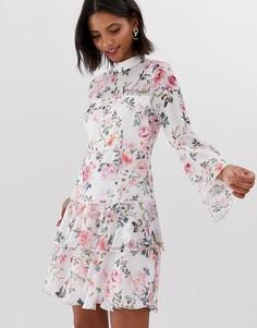 Короткое приталенное платье с цветочным принтом Forever New - Мульти