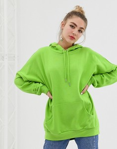 Удлиненный худи Monki - Зеленый