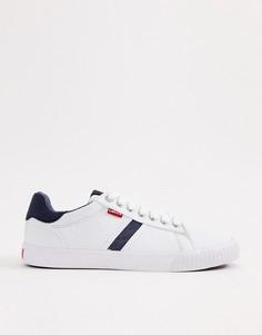 Белые кроссовки с джинсовыми вставками Levis Skinner - Белый Levis®