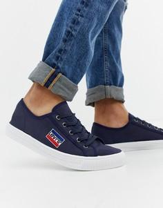 Темно-синие парусиновые кроссовки Levis Malibu - Темно-синий Levis®