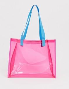 Пляжная пластиковая сумка-шоппер ASOS DESIGN - Розовый