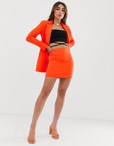 Мини-юбка ASOS DESIGN - Оранжевый