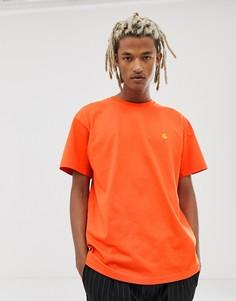 Оранжевая футболка Carhartt WIP Chase - Оранжевый