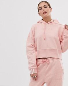Розовый худи укороченного кроя adidas Originals Coeeze - Розовый