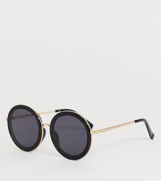 Круглые солнцезащитные очки в металлической оправе ALDO - Черный