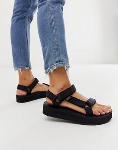 Черные массивные сандалии на платформе Teva - universal - Черный