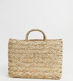 Эксклюзивная соломенная пляжная сумка South Beach - Бежевый