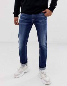 Темные джинсы прямого кроя Replay - Синий