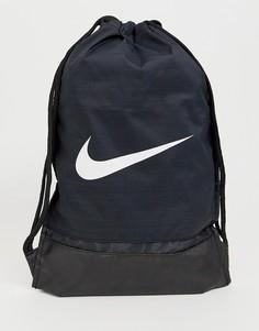 2f854b1c6ee9 Черная сумка с затягивающимся шнурком и логотипом-галочкой Nike - Черный