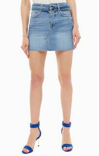 Короткая джинсовая юбка с ремнем Guess