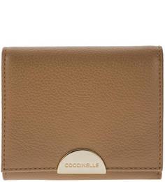 Коричневый кожаный кошелек Half Coccinelle