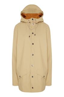 Бежевая непромокаемая куртка Rains