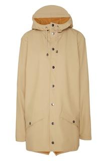 Куртка бежевого цвета Rains