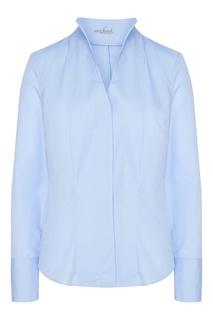 Голубая блузка из хлопка Van Laack