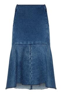 Джинсовая юбка годе Balenciaga