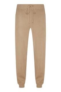 Бежевые трикотажные брюки Laroom