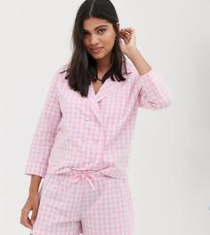 Розовая пижама в клетку Hey Peachy - Розовый