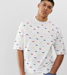 Свободная футболка Lonsdale - Белый