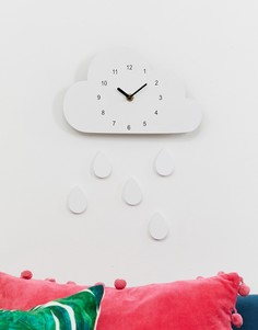 Часы в виде облака SVNX - Белый 7X