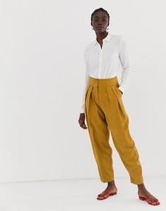 Зауженные брюки ASOS DESIGN - Желтый