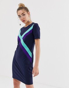 Платье-футболка с полосками Monki - Темно-синий