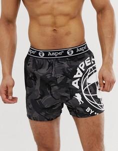 Черные боксеры с принтом AAPE By A Bathing Ape - Черный