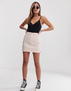 Розовая джинсовая мини-юбка JDY - Розовый