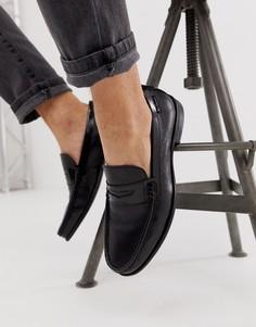 Черные кожаные лоферы Ben Sherman - Черный