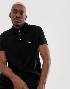 Черная футболка-поло Love Moschino - Серый