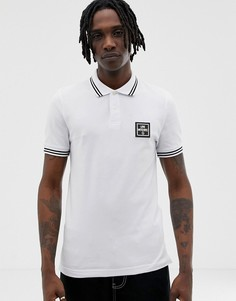 Белая футболка-поло с логотипом Love Moschino - Белый