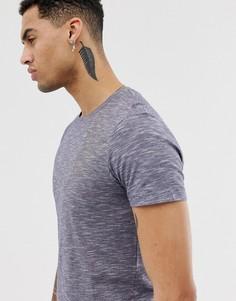 Темно-синяя меланжевая футболка Esprit - Темно-синий