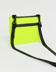 Сумка через плечо с молнией ASOS DESIGN - Зеленый